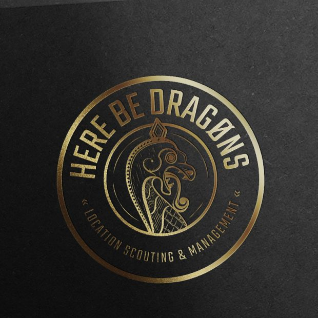 here be dragons logo ontwerp
